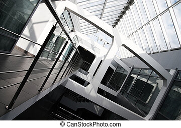 Modern office building interior Tilt view