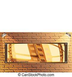 Brick wall and board