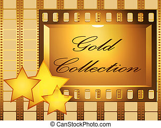 Gold collection - Publicity board and stars against a film