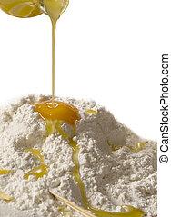 uovo farina - Olio uovo e farina, ingredienti culinari della...