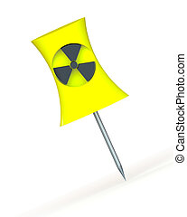 nuclear power station - Push pin as a nuclear cooling tower