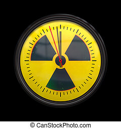 radioactive clock - An image of a radioactive clock three...