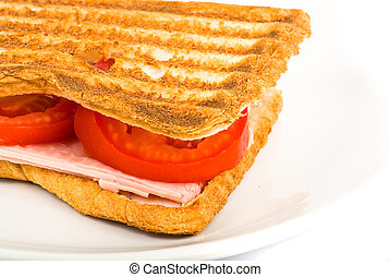 vegetal sandwich closeup