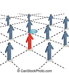 Social network of connected people - People connected with...