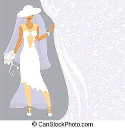 Bride in a white hat