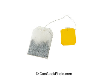 teabag isolated on white with clipping path