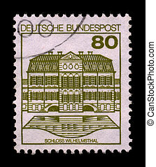 Postage stamp - GERMANY-CIRCA 1980:A stamp printed in...