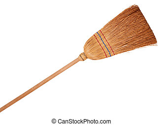 Broom, isolated on background