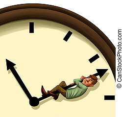stopping the time - executive concerned trying to stop the...