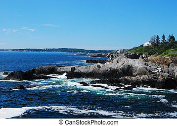 Rocky New England - a view of the rocky New England...
