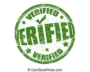 Verified stamp - Grunge rubber stamp with the word verified...