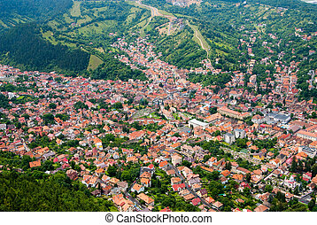 Brasov upper view - Brasov is a city in Romania and the...
