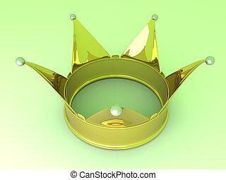 Crown - 3D rendered Illustration.