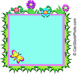 Frame of Plants, Flowers, and Butte