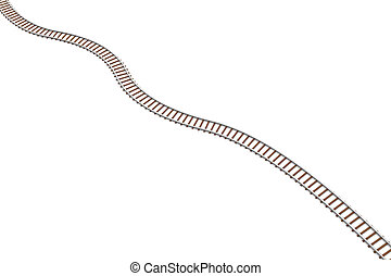 Railroad - 3D rendered Illustration Isolated on white