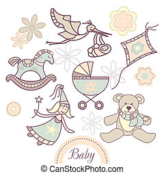 set of baby products - set of different baby products
