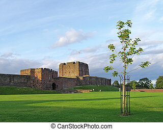 Carlisle Castle - A postcard shot of Carlisle Castle,...