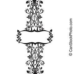 vector floral frame illustration