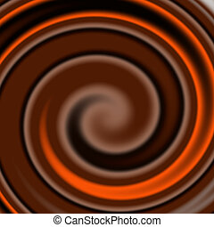 mixed chocolate swirl - abstract background of mixed...