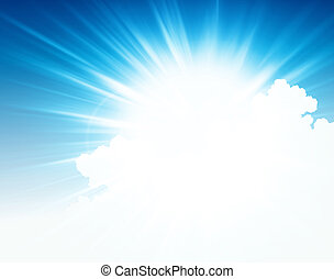 Sky burst - Background illustration of light beams and...