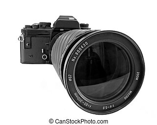 SLR with zoom