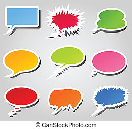 Conversation cloud - Set of icons of clouds for conversation...