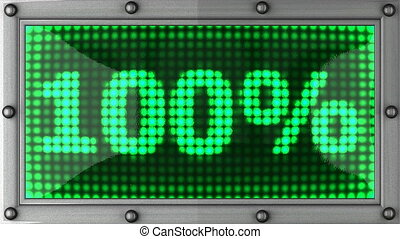 percentage announcement on the LED