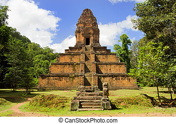 Pyramid Temple in Cambodia - Baksei Chamkrong, 10th century...