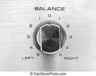 Balance Bias - The channel balance on a hi-fi unit...