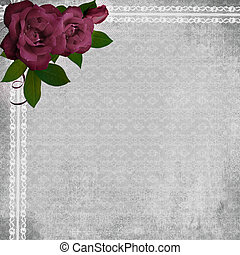 lace background with rose