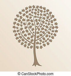 Tree8 - Tree with a roundish crone. A vector illustration
