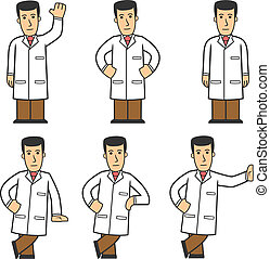 Doctor character set 01 - set of medical worker in different...