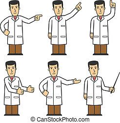Doctor character set 03 - set of medical worker in different...