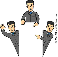 Businessman character set 06 - set of businessman in...