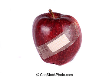 Wounded Apple - A metaphorical image of an apple wounded due...