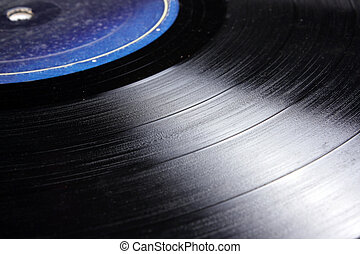 LP Record Background - A background with a closeup view of...