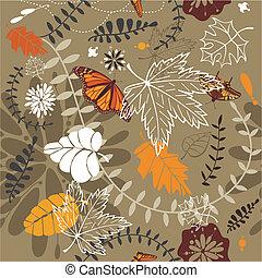 autumn seamless background vector illustration