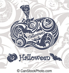 abstract Halloween background vector illustration