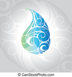 waterdrop vector illustration - abstract waterdrop card...