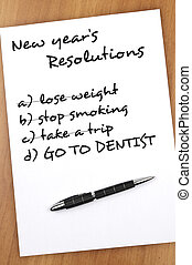 New year resolutions - New year resolution with Go to...