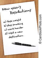 New year resolutions - New year resolution with Visit new...
