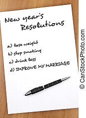 New year resolutions - New year resolution with Improve my...