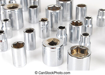 Socket set - Various sizes of sockets and handle