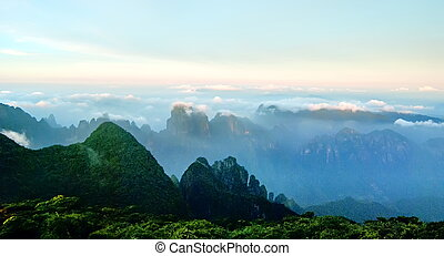 The cloud and mist of Shengtangshan