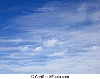 Sky with clouds - Blue sky with white clouds
