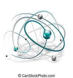 molecule - science symbol with abstract molecule on a white...