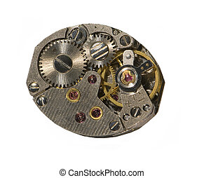 closeup of inside of watch - closeup of the inside of a...