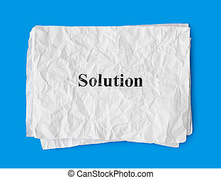 Crumpled paper Solution