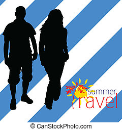 travel summer couple black