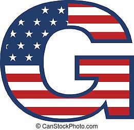 USA G letter